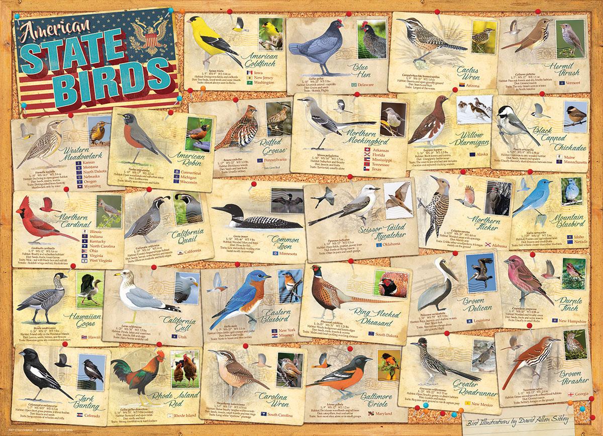 State Birds Birds Jigsaw Puzzle