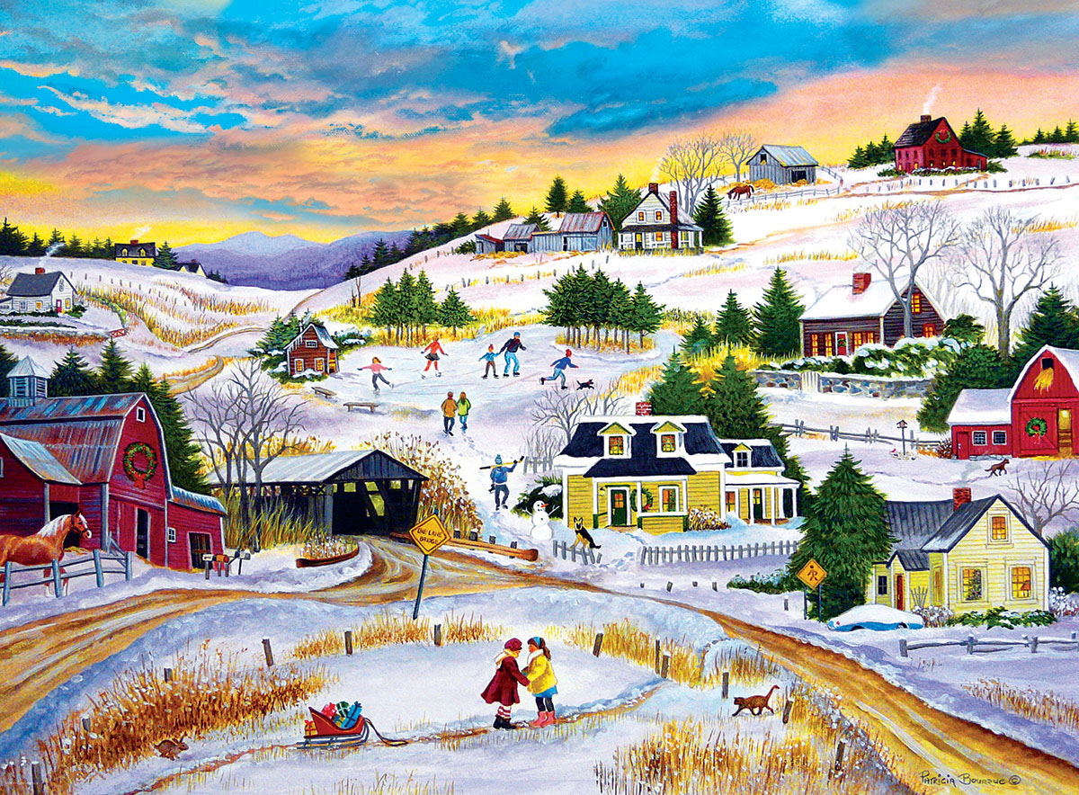 T'is the Season Farm Jigsaw Puzzle