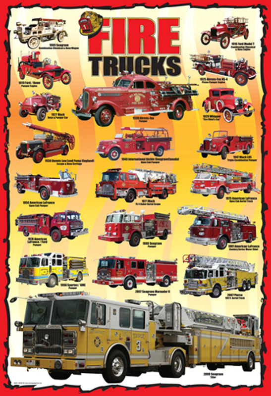 Fire Trucks-100 Nostalgic / Retro Children's Puzzles