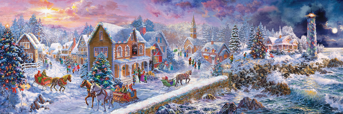 Holiday at the Seaside Christmas Jigsaw Puzzle