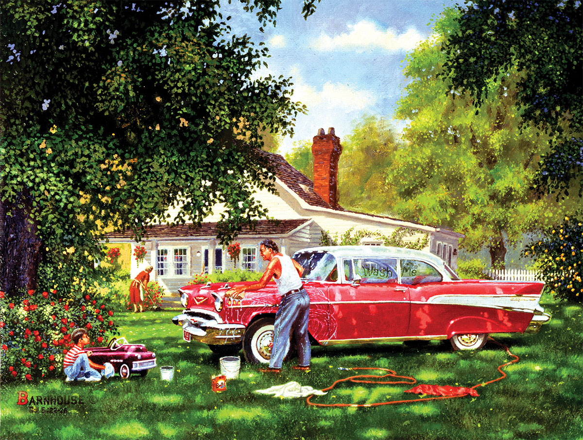 Wash Me Cars Jigsaw Puzzle