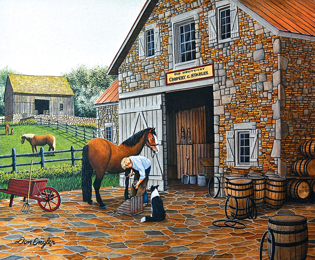 Coppery and Stables Farm Jigsaw Puzzle