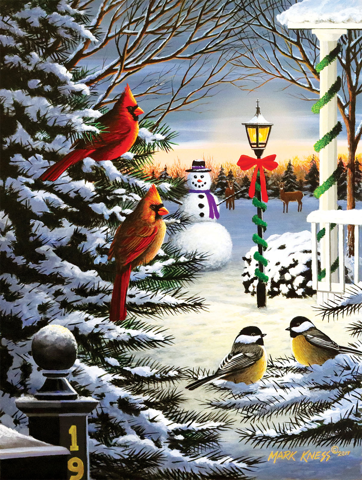 Holiday Friends Birds Jigsaw Puzzle