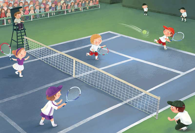 Junior League Tennis Sports Jigsaw Puzzle