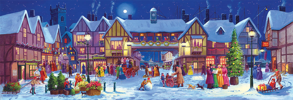 Panoramic Christmas Christmas Jigsaw Puzzle