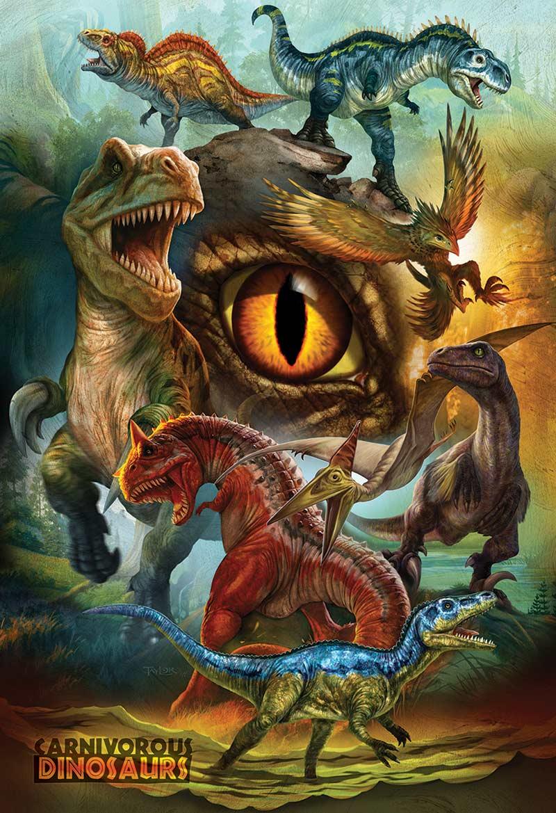 Carnivorous Dinosaurs Dinosaurs Jigsaw Puzzle