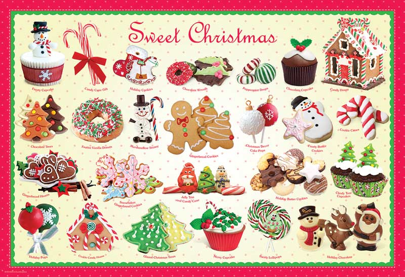 Sweet Christmas Food and Drink Jigsaw Puzzle