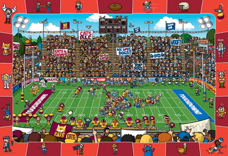 Football (Spot & Find) Cartoons Hidden Images