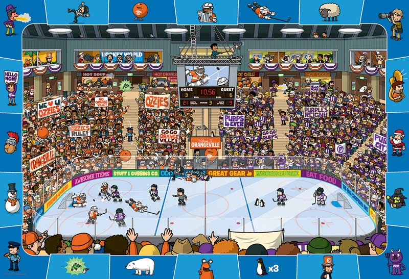 Hockey Cartoons Jigsaw Puzzle