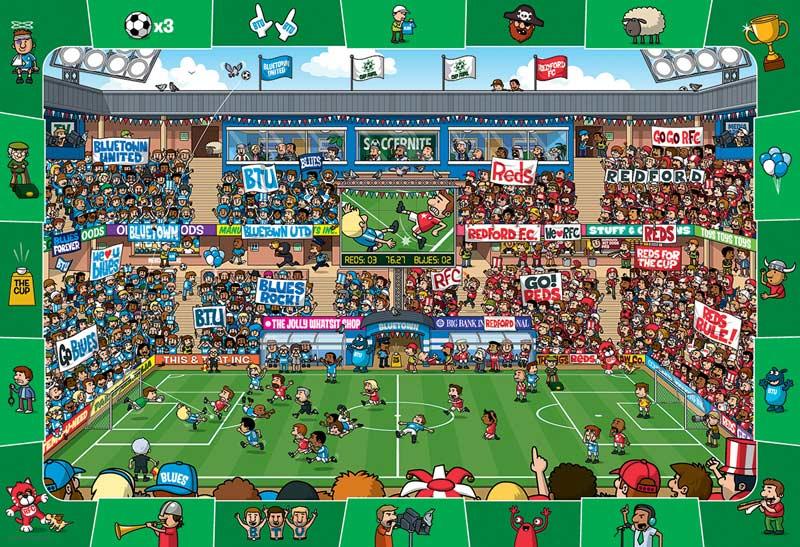 Soccer Cartoons Hidden Images