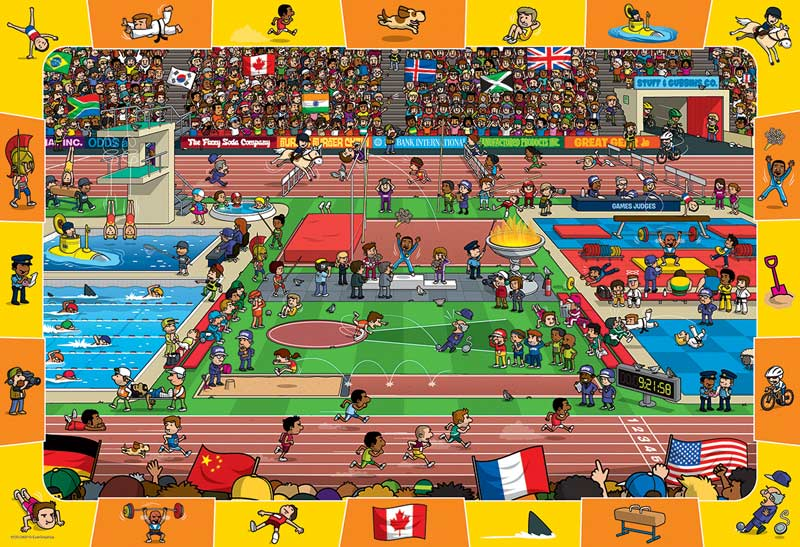 Olympics (Spot & Find) Cartoons Jigsaw Puzzle