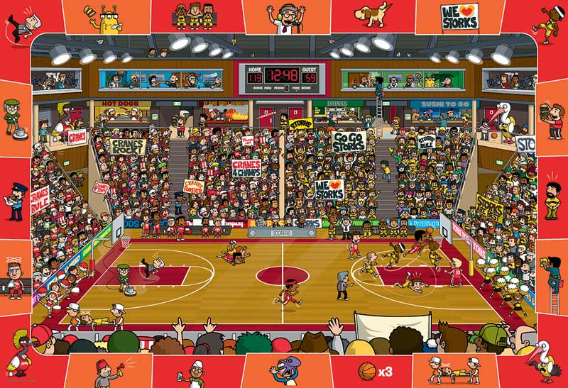 Basketball Cartoons Hidden Images