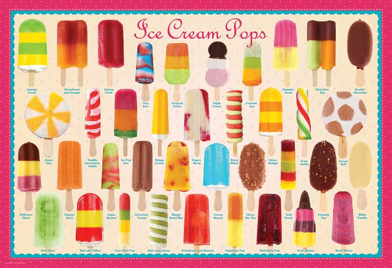Ice Cream Pops Food and Drink Jigsaw Puzzle