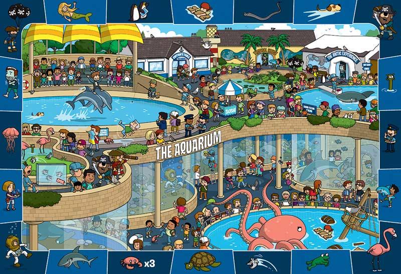 Crazy Aquarium (Spot & Find) Under The Sea Jigsaw Puzzle