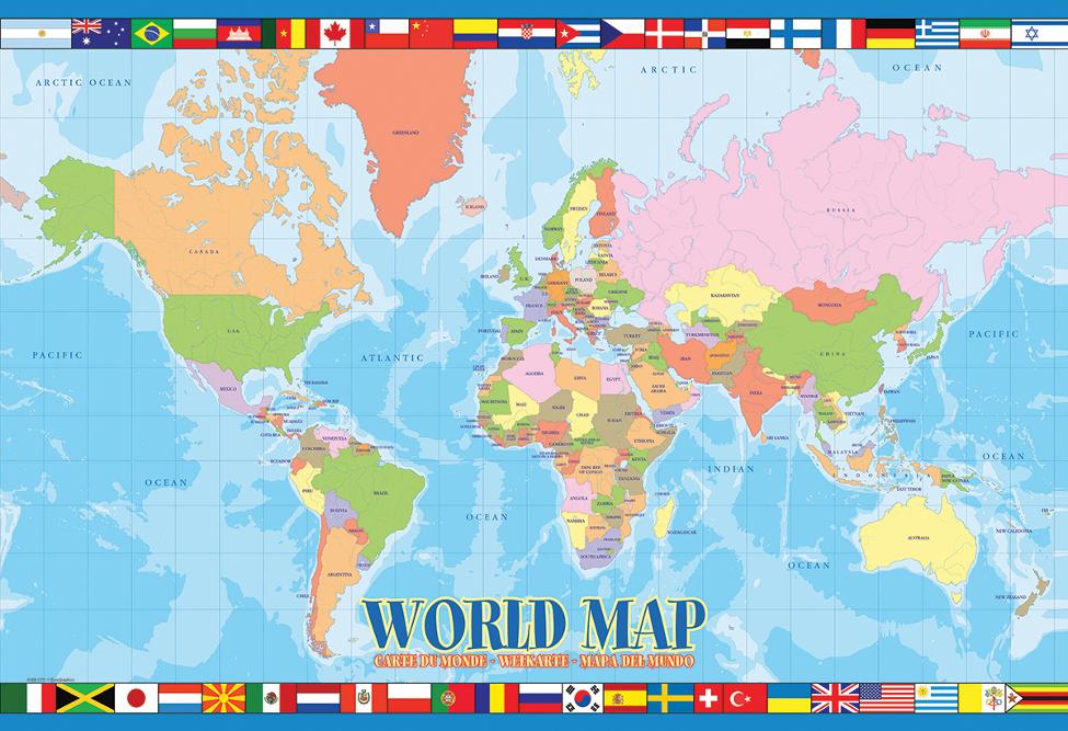 World Map Educational Jigsaw Puzzle