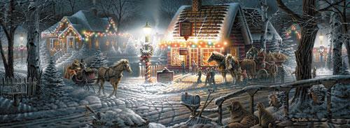 Sweet Memories - Panoramic Christmas Jigsaw Puzzle