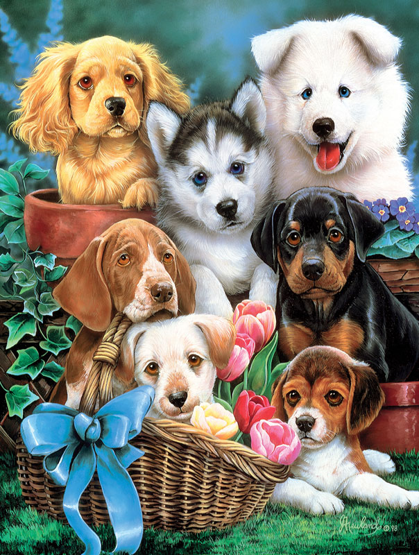 Furry Friends - Puppy Pals Dogs Jigsaw Puzzle
