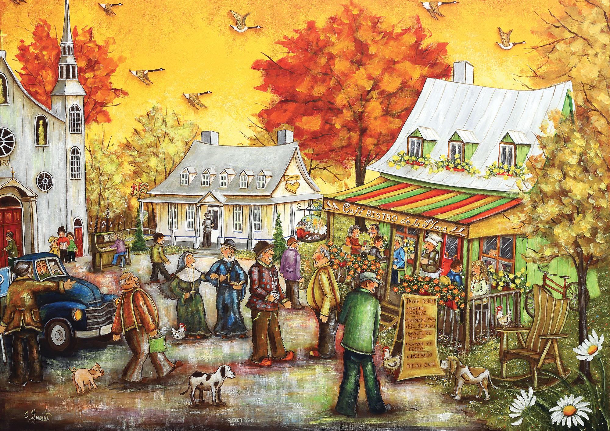 Café Bistro Fall Jigsaw Puzzle