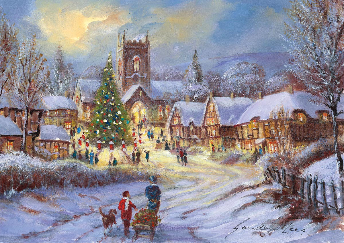 Christmas in the Village Christmas Jigsaw Puzzle