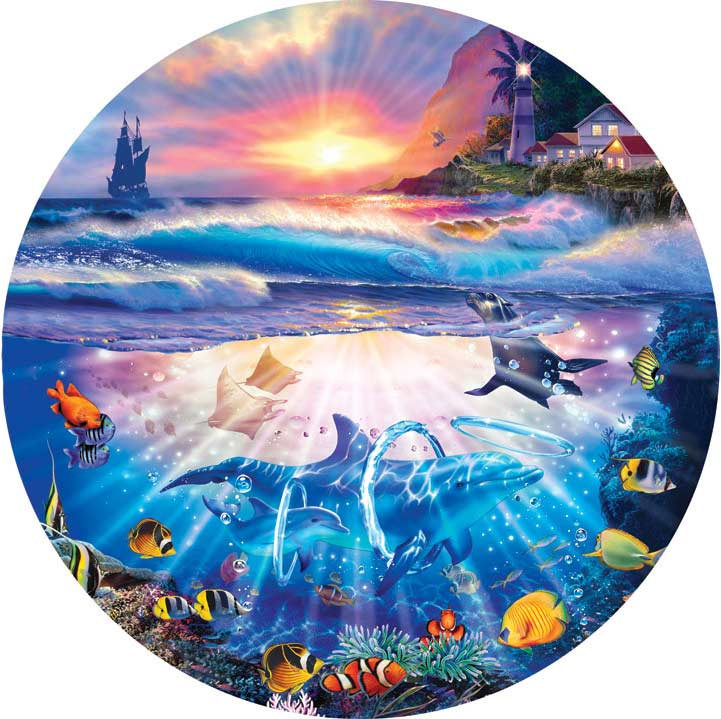 Seascapes - Coming Home Dolphins Jigsaw Puzzle