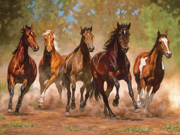 Running Wild - Taking Flight Horses Jigsaw Puzzle