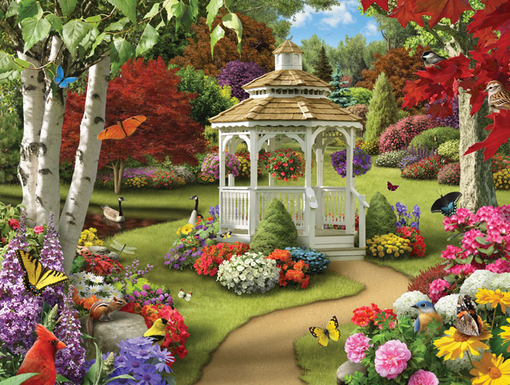 Lazy Days - Our Own Heaven Garden Jigsaw Puzzle