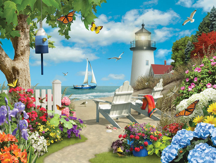 Lazy Days - By the Peaceful Shore Beach Jigsaw Puzzle