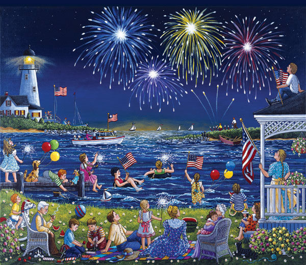 Seaside Celebration Fourth of July Jigsaw Puzzle