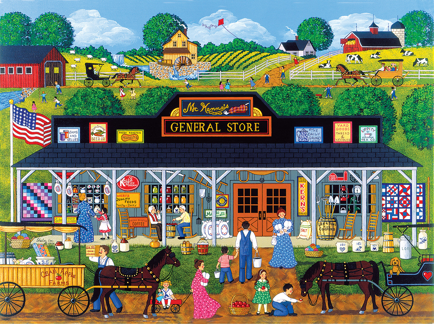 McKenna's General Store - Scratch and Dent Countryside Jigsaw Puzzle