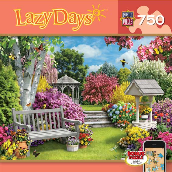 Lazy Days - Beautiful Blossoms Garden Jigsaw Puzzle