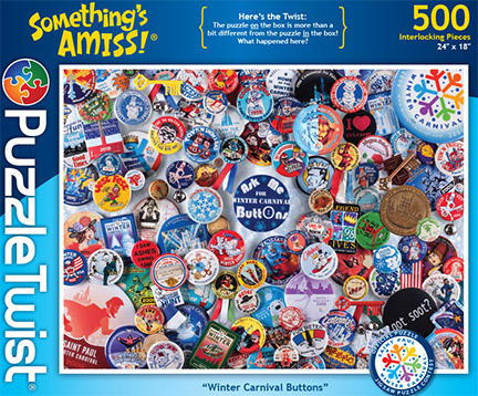 Winter Carnival Buttons Everyday Objects Jigsaw Puzzle