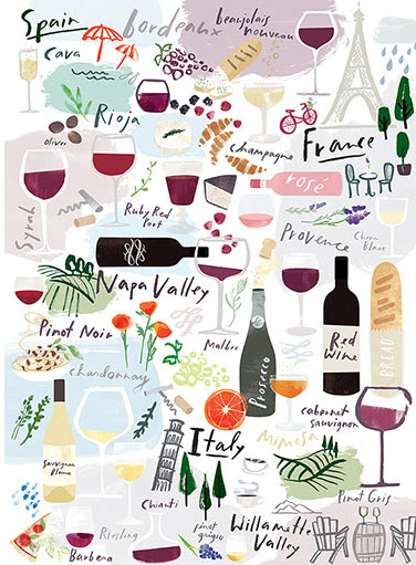Wine, Vino, Vin Cocktails / Spirits Hidden Images