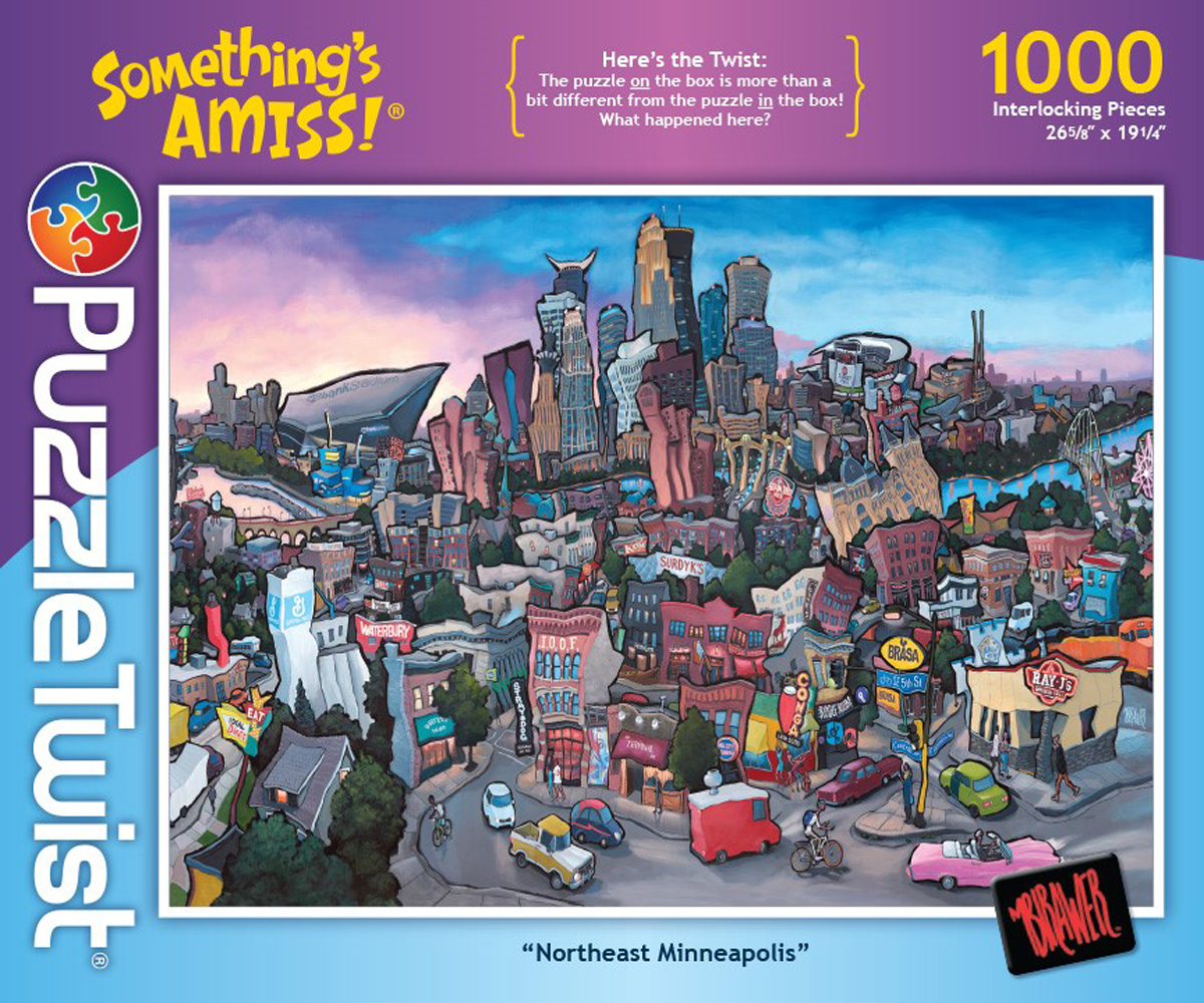 Northeast Minneapolis Graphics / Illustration Jigsaw Puzzle