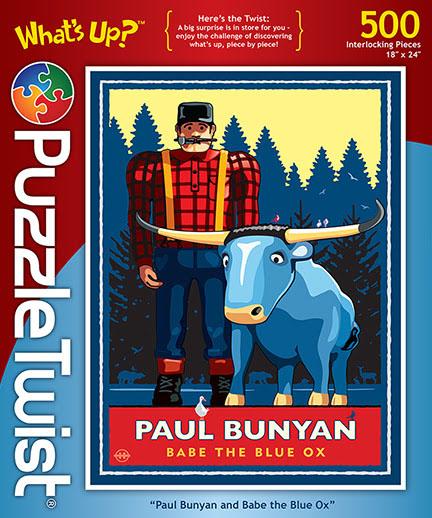 Paul Bunyan & Babe the Blue Ox Winter Hidden Images