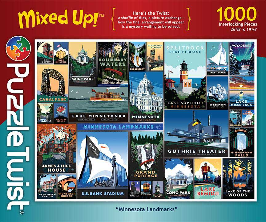Minnesota Landmarks Travel Jigsaw Puzzle