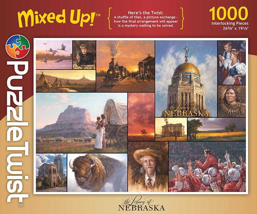 Legacy of Nebraska Collage Jigsaw Puzzle