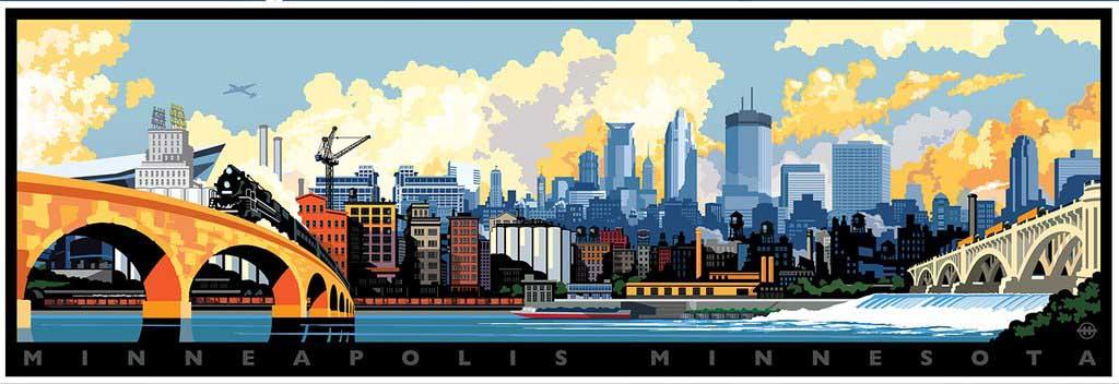 Minneapolis Skyline Skyline / Cityscape Jigsaw Puzzle