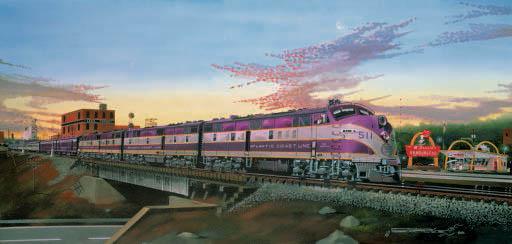 Purple Passion Trains Jigsaw Puzzle