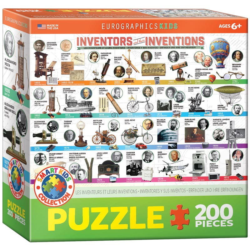 Inventors and their Inventions Educational Jigsaw Puzzle