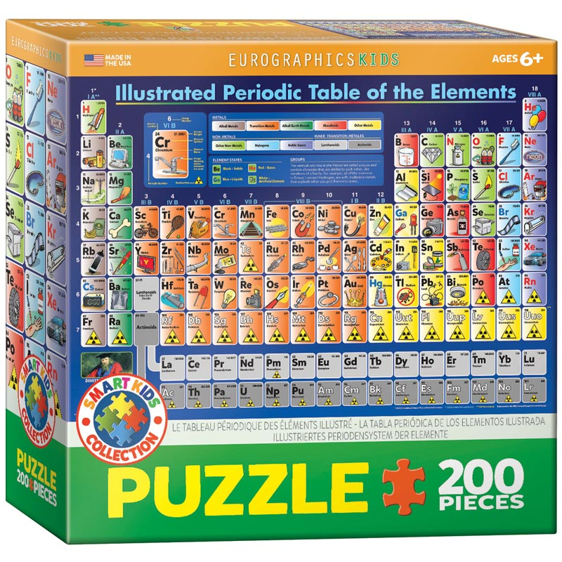 Illustrated Periodic Table of the Elements Educational Jigsaw Puzzle