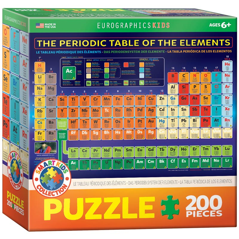 The Periodic Table of the Elements Educational Jigsaw Puzzle