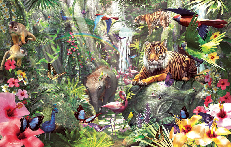 Asian Rainforest Jungle Animals Jigsaw Puzzle