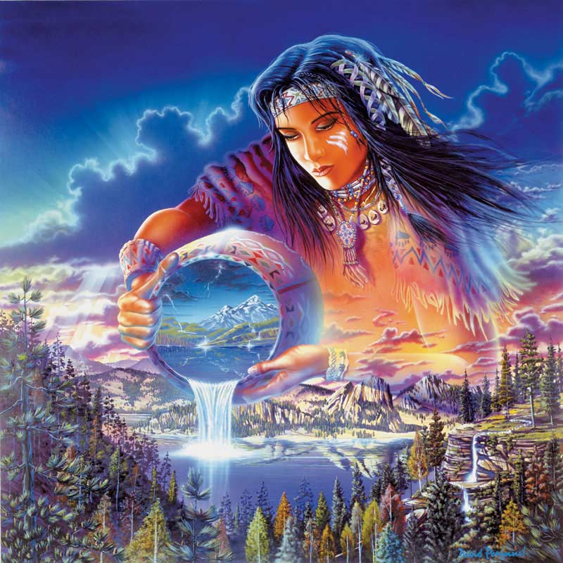 Rainmaker Native American Jigsaw Puzzle
