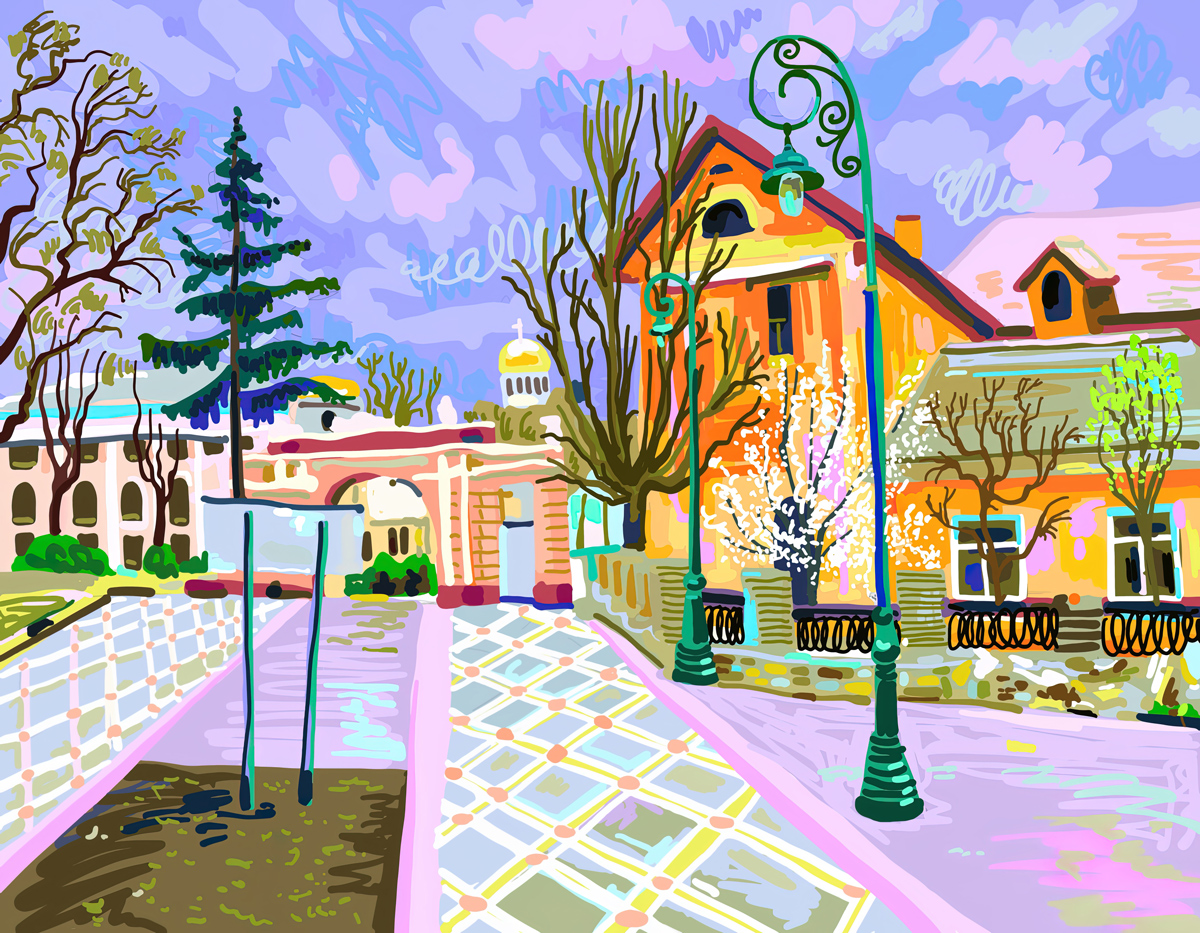 Arty Avenue Domestic Scene Jigsaw Puzzle