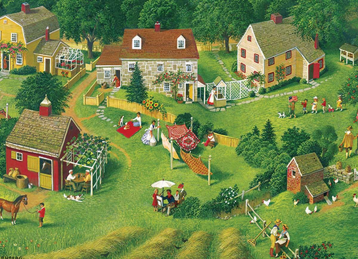 Back Yards Countryside Jigsaw Puzzle