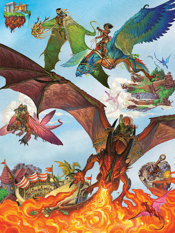 Dragon Flight - Scratch and Dent Fantasy Jigsaw Puzzle