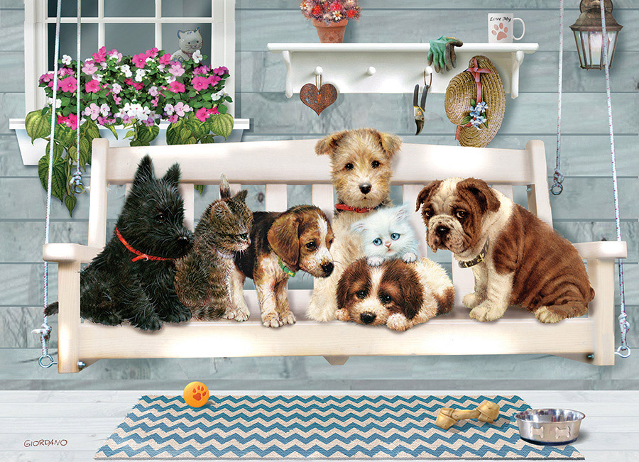 Porch Pals Cats Jigsaw Puzzle