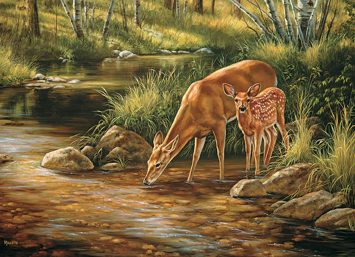 Deer Family Animals Jigsaw Puzzle