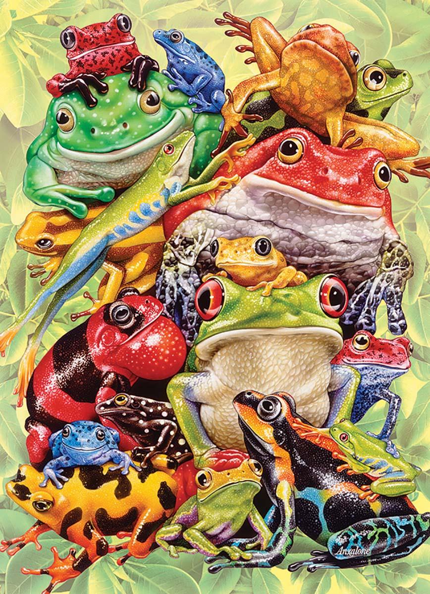 Frog Pile Reptiles / Amphibians Jigsaw Puzzle