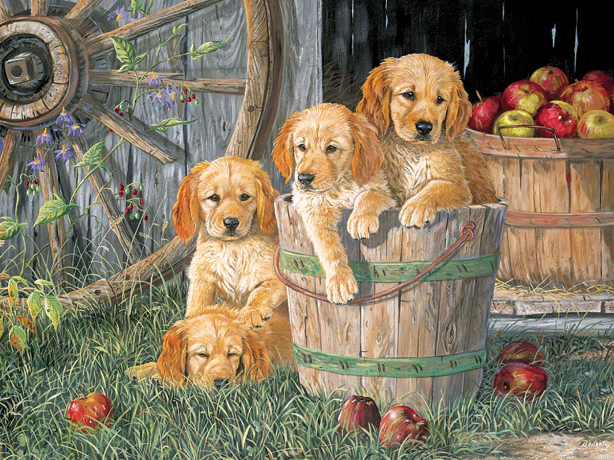Puppy Pail Dogs Jigsaw Puzzle